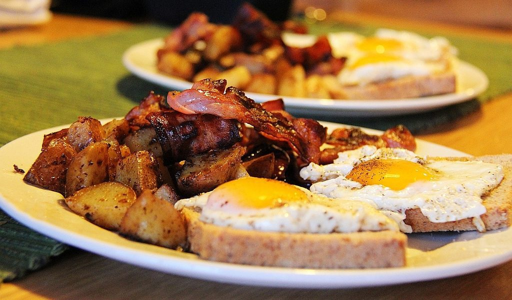 Eggs and Bacon For Breakfast