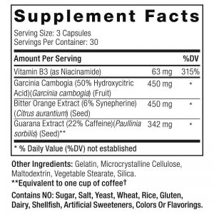 Clenbutrol Supplement Facts Label