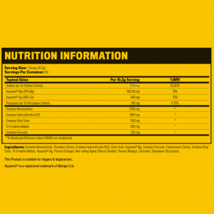 CRN-5 Supplement Facts label