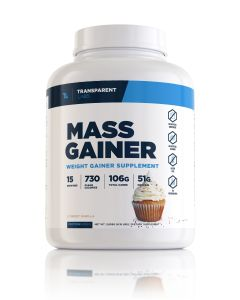 Front View of Mass Gainer Container