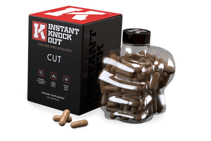 Instant Knockout Box, Bottle and Capsules